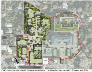 CNRS_projet de restructuration du site_plan masse